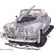1940 Plymouth P 1 Convertible Art Print