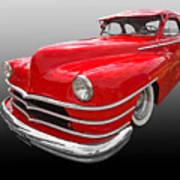 1940s Custom Chrysler New Yorker In Red Art Print