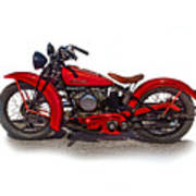 1940's Indian Motorcycle Art Print