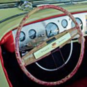 1941 Chrysler Newport Dual Cowl Phaeton Steering Wheel Art Print