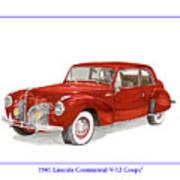 1941 Mk I Lincoln Continental Art Print