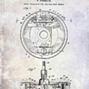 1941 Porsche Brake Mechanism Patent Art Print