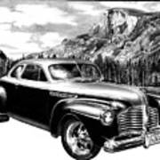 1941 Roadmaster - Half Dome Art Print