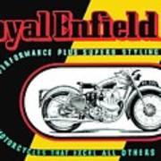 1941 Royal Enfield Motorcycle Ad Art Print