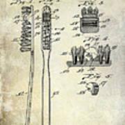1941 Toothbrush Patent  Art Print