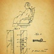 1943 Barber Apron Patent Art Print