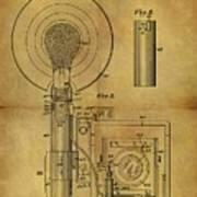 1943 Camera Flash Patent Art Print
