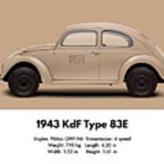 1943 Kdf Type 83e - Sand Art Print