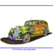1947 Bentley Shooting Brake Art Print