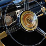 1947 Buick Eight Super Steering Wheel Art Print