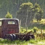 1947 Dodge Pickup Rain And Sun Art Print