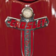 1948 Crosley Convertible Emblem Art Print