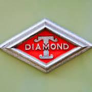 1948 Diamond T Emblem -ck0879c Art Print