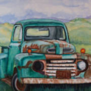 1948 Ford Pickup Rusty Gem  Art Print