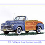 1948 Ford Sportsman Convertible Art Print