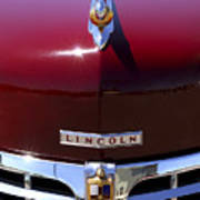 1948 Lincoln Continental Hood Ornament 3 Art Print