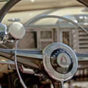 1948 Plymouth Deluxe Steering Wheel Art Print