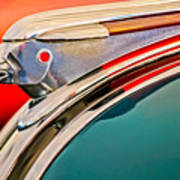 1948 Pontiac Chief Hood Ornament Art Print by Jill Reger