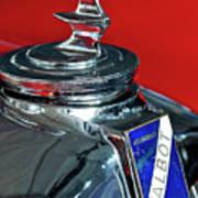 1948 Talbot-lago T26 Record Cabriolet Hood Ornament Art Print