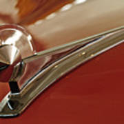 1949 Ford Custom Hood Ornament Art Print