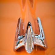 1949 Lincoln Coupe Hood Ornament Art Print