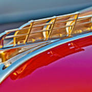 1949 Plymouth Hood Ornament Art Print