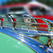 1949 Plymouth Hood Ornament Art Print by Larry Keahey