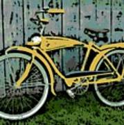 1949 Shelby Donald Duck Bike Art Print