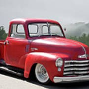 1950 Chevrolet 3100 Pickup 'show Low' II Art Print