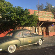 1950 Chevrolet Coupe In Front Of Portal Store Art Print