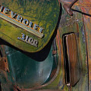 1950 Chevrolet Pickup Truck Emblem Art Print