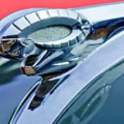1950 Dodge Coronet Hood Ornament Art Print by Jill Reger
