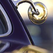 1950 Mercury Custom Lead Sled Side Mirror Art Print