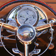 1950 Oldsmobile Rocket 88 Steering Wheel 2 Art Print