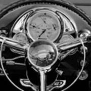 1950 Oldsmobile Rocket 88 Steering Wheel 4 Art Print