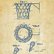 1951 Basketball Net Patent Artwork - Vintage Art Print