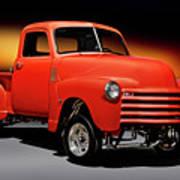 1951 Chevrolet 'gasser Style' Pickup I Art Print