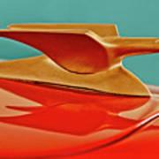 1951 Crosley Hot Shot Hood Ornament 2 Art Print