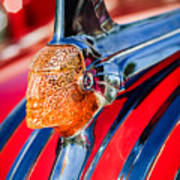 1951 Pontiac Chief Hood Ornament Art Print