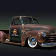 1951 Rusty Chevrolet Pickup Truck Art Print