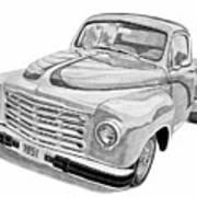 1951 Studebaker Pickup Truck Print by Daniel Storm