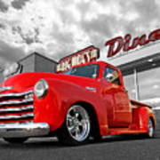 1952 Chevrolet Truck At The Diner Art Print