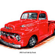 1952 Ford Pick Up Truck Art Print