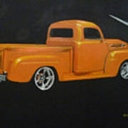 1952 Ford Pickup Custom Art Print