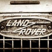 1952 Land Rover 80 Grille  Emblem -0988s2 Art Print