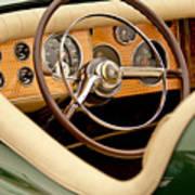 1952 Sterling Gladwin Maverick Sportster Steering Wheel Art Print