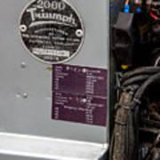 1952 Triumph Renown Limosine --- Vehicle Identification Tags Art Print