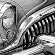 1953 Buick Chrome Bw Art Print