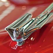 1953 Cadillac Eldorado Convertible Hood Ornament Art Print