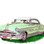1953 Pontiac Chieftain Catalina H.t. Art Print